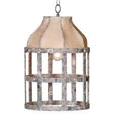 Country Pendant Lights Lucia Country Cottage Rustic Iron Burlap 1 Light Pendant