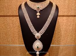necklace wedding sets images Gold cz stone bridal jewellery set pinterest gold bridal jpg