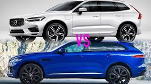 2018 volvo xc60 vs 2017 jaguar f pace youtube