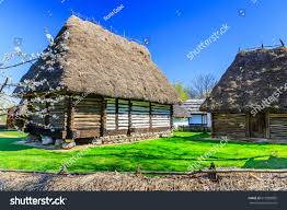 bucharest romania old traditional house village stock photo
