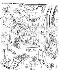 Rug Doctor Repair Center Bissell 1698 Parts List And Diagram Ereplacementparts Com