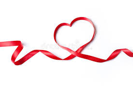 heart ribbon heart ribbon stock image image of copy spirit 28519987