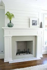painted fireplace mantel paint surround black makeover ask fire