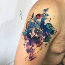 atomo dibujo tatoo a galáxia que há dentro de cada átomo obrigado ageu