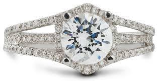 unique engagement ring unique engagement ring with split shank and accent diamonds 7706