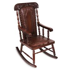 traditional wood leather rocking chair nobility novica