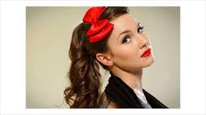the 1950 u0027s inspired ponytail youtube