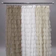 Ivory Shower Curtain Couture Dreams Chichi Petal Shower Curtain