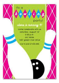 bowling party invitations cloveranddot com