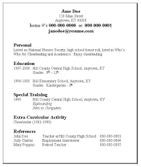 Resume Template For No Job Experience by Simple Student Resume Format