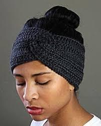 crochet ear warmer headband free pattern sleek and ear warmer headband by lorene