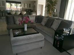 Grey Velvet Sofa by Grey Velvet L Shaped Sofa Home Pinterest Gray Living Rooms