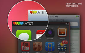 iphone themes that change everything heart signal bars updated for ios 5 by trentmorris on deviantart