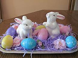 Easter Bunny Decoration Table by Easter Table Decorations