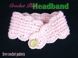 pink headband free crochet pattern pink headband