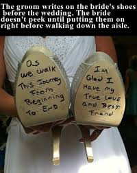 wedding quotes groom to the groom writes on the s shoes before the wedding pictures