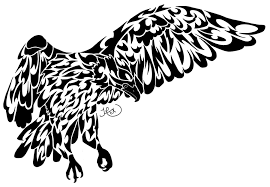 tribal crow tattoo designs
