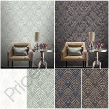 rasch wallpaper rasch astoria art deco geometric wallpaper glitter silver gold white