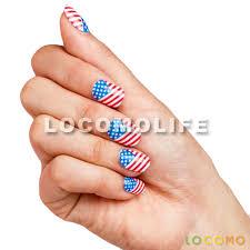 american flag false nails nail toenail designs art