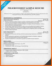 Sample Resume For Phlebotomist by 11 Phlebotomist Resume Credit Letter Sample