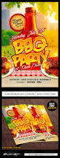 bbq party flyer template psd party flyer flyer template and
