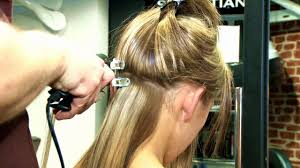 apply pre bonded glue in hair extensions