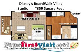 Photography Studio Floor Plans by Photo Tour Of A Studio At Disney U0027s Boardwalk Villas