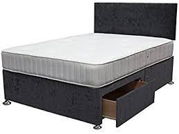 Divan Bed Frames Caspian Charcoal Divan Bed Base Available In 3ft 4ft 4ft6 5ft