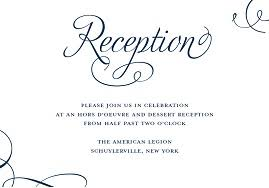 reception invitation wording wedding invitation wording hors d oeuvre reception beautiful