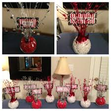 Pinterest Graduation Ideas by Graduation Centerpieces In Black Red And White My Own Creation