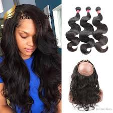 sew in 2018 360 lace frontal with bundles wet n wavy peruvian human hair