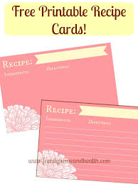 printable recipes free free printable recipe cards help for organizing your recipes