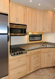 Kitchen Furniture Rv Kitchen Cabinets by Maple Kitchen In A Custom Spacecraft Manufacturing 5th Wheel