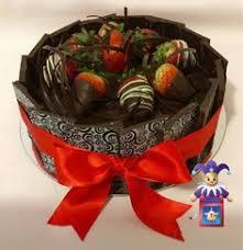 White Chocolate Dipped Strawberries Box Elephant Baby Shower Cake 10