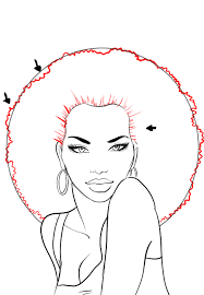 how to draw african american hair i draw fashion