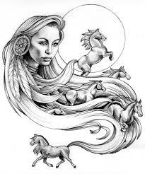 mustang horse drawing lauren yurkovich wild horses