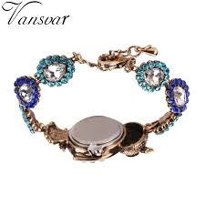 crystal bracelet watches images Vansvar brand luxury crystal bracelet watches fashion women owl jpg