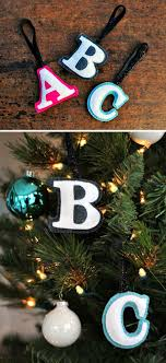 the gift felt monogram ornaments design