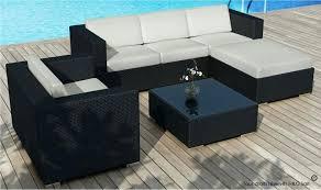 coussin canapé extérieur coussin canape exterieur stunning housse salon de jardin noir