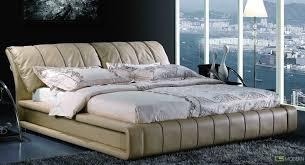 Leather Platform Bed Yeolani Home Modern White Leather Platform Bed With Blue Led Light