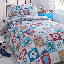 Duvet Covers Debenhams Bluezoo Kids U0027 White U0027football U0027 Duvet Cover And Pillow Case Set