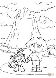 volcano erupted coloring page free printable coloring pages