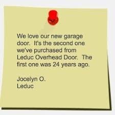 Leduc Overhead Door Customer Testimonials