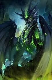 fierce dark green dragon clipart collection