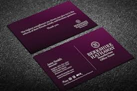 Purple Business Cards Berkshire Hathaway Business Cards Free Shipping Custom Realty