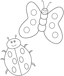 simple butterfly coloring page kids coloring