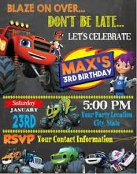 truck birthday party blaze machine trucks birthday party invitations