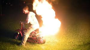 baja doodle bug mini bike 97cc 4 stroke engine manual dirt doodle bug mini bike custom flamethrower exhaust 1080p