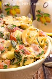 creamy spinach and tomato tortellini the midnight baker