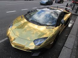 slowest lamborghini ostentatious lambo aventador sv with chrome gold wrap is ghastly